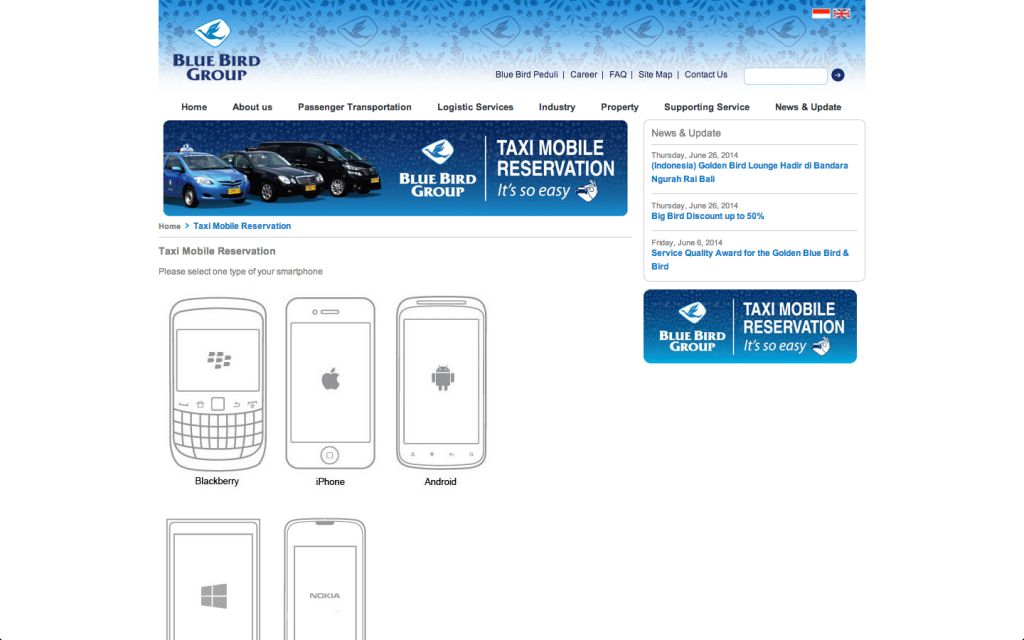 Blue Bird Taxi Reservation